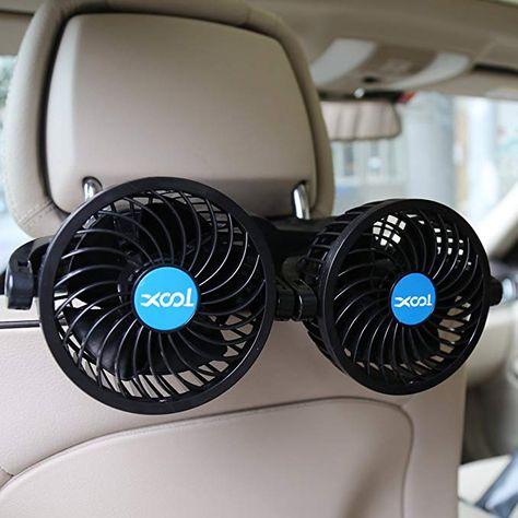 WE-WHLL USB Fan Fan Car Seat Fan Back 3-Speed Silent Air Cooling Fan for SUV Truck Bus