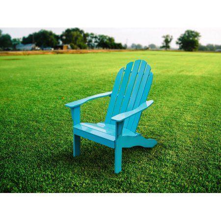 Mainstays Turquoise Adirondack Chair Walmart Com Wood