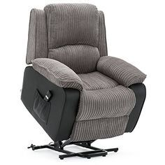 Prime More4Homes Postana Jumbo Cord Fabric Rise Recliner Armchair Machost Co Dining Chair Design Ideas Machostcouk