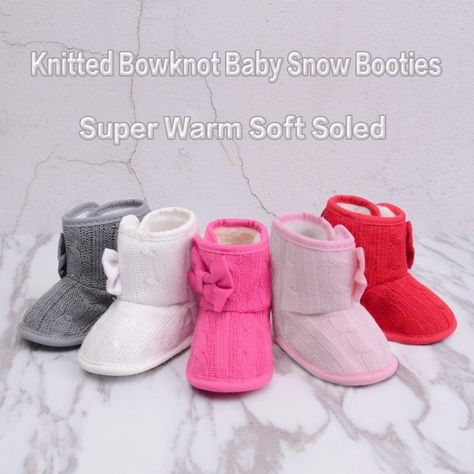 Newborn to 18 M Baby Boy Girl Snow Pram Shoes Infant High Top Winter Warm Boots