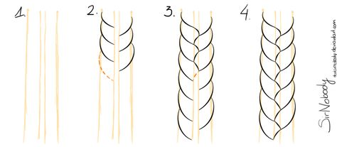 how to draw a braid-if only i knew this when i was a kid