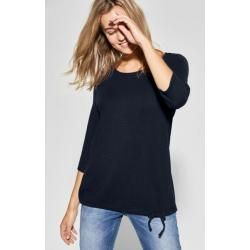 CECIL Shirt mit Knotendetail Melia in Deep Blue