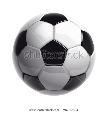 Football Championship Design Banner Illustration Banner With Logo Realistic Soccer Ball Isolated On White Background Black And White Classic Leather Football