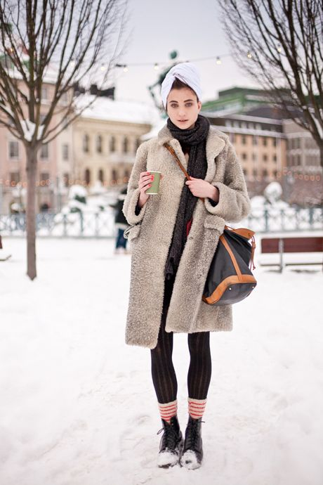 One of the best things about Stockholm Fashion Week, besides all the devil-may-care designers, is definitely the street style. We know other cities have more clout on the runways, but as far as sidewalks and magical snowy parks go, Stockholm.