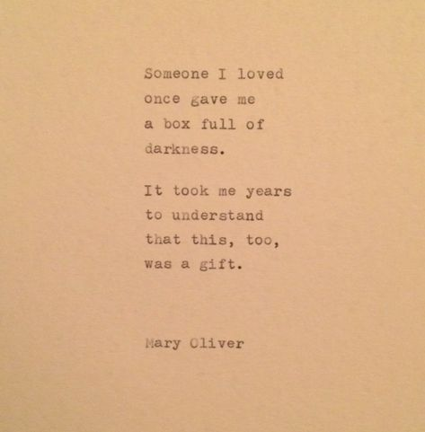 Mary Oliver Quote typed on typewriter by WhiteCellarDoor on Etsy