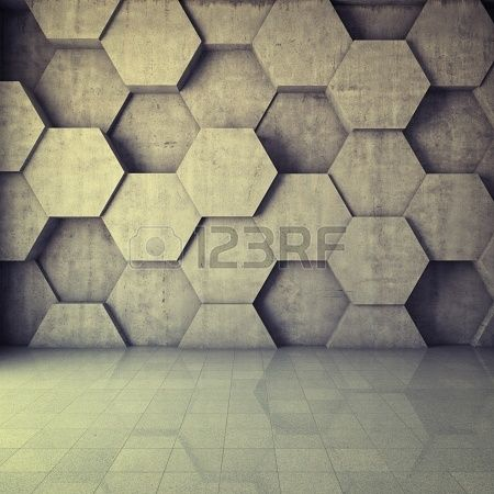 Hexagonal Wall Design spotted at the Hyatt Time Square.