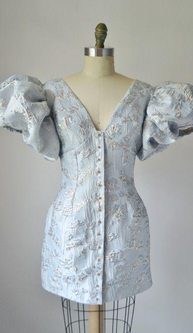 Brocade Puff Sleeve Dress (Full Look) | Puff sleeve dresses, Dresses with  sleeves, Simple dresses