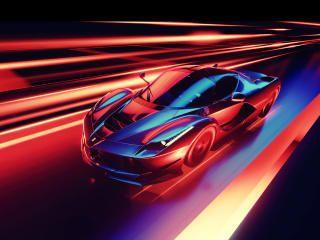 Ferrari Neon Wallpaper Hd Artist 4k Wallpapers Images Photos And Background Wallpapers Den Ferrari Car Car Wallpapers Ferrari