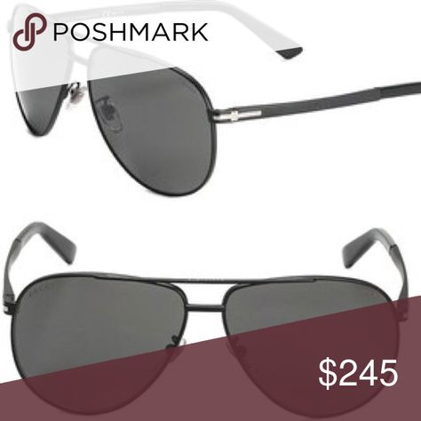ef4e4c972f6 Gucci 61MM Matte Black Aviator Sunglasses GIVEN A 5 STAR RATING BY A  POSHMARK BUYER... Sunglasses with polarized lenses for an uber-cool look  61mm lens ...