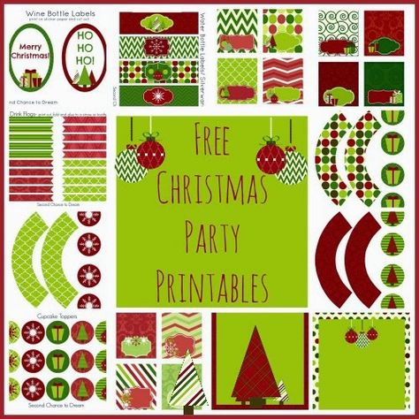 Free Christmas Party Printables {Second Chance to Dream} #freeprintables #Christmas #party