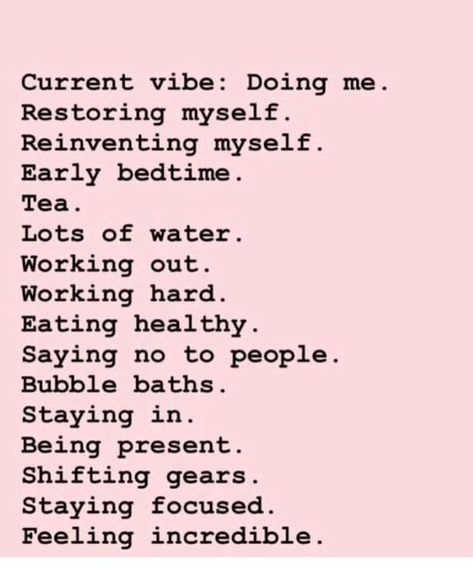 Self care and motivation