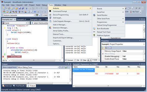 Arduino IDE Plugin for Microsoft Visual Studio and Atmel Studio