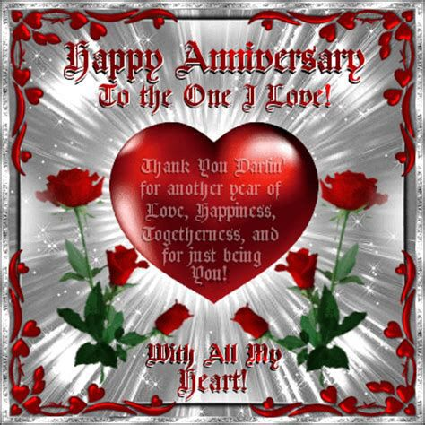 With All My Heart Free Wedding Anniversary Ecards Greeting Cards 123 Greeti Happy Anniversary Quotes Happy Anniversary My Love Happy Marriage Anniversary