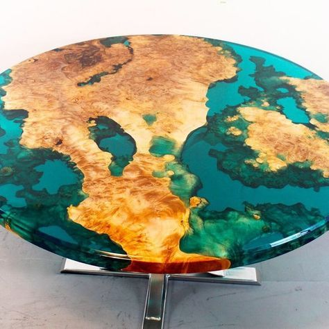 Round Resin River Table Etsy Resin Furniture Resin Patio Furniture Diy Resin Table