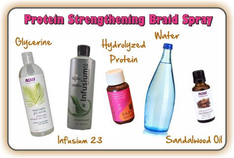 Two Surprisingly Easy But Effective Homemade Braid Sprays | Hair Treatment Recipes | Natural hair recipes, Natural hair styles, Curly hair styles