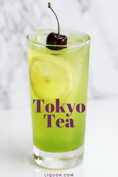Tokyo Tea Recipe In 2020 Melon Liqueur Liquor Drinks Alcoholic Drinks