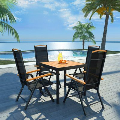 Sol 72 Outdoor Jade 5 Piece Dining Set Outdoor Patio Table Garden Furniture Sets