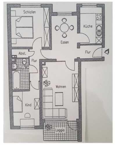 Grundriss Grosszugige 3 5 Zimmer Wohnung Wohnung Einrichten Wohnung 3 Zimmer Wohnung