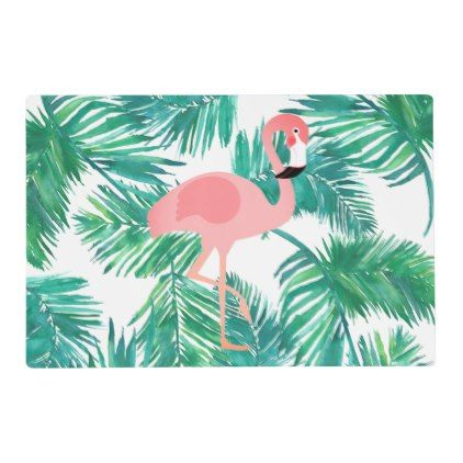 Pink Flamingo Single Tapestry Placemat