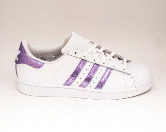Glitter   Limited Edition Lavender Light Purple Adidas Superstars ...