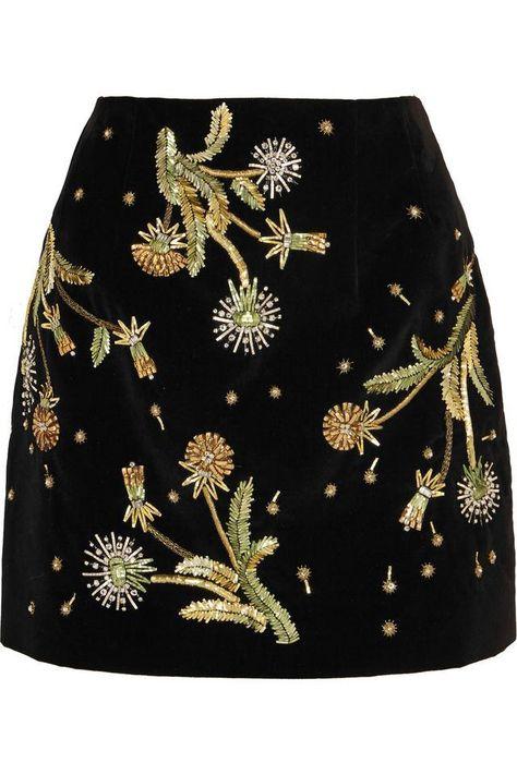 Brunswick Velvet Mini Skirt by Unique - Skirts - Clothing - Topshop Europe