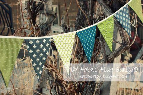 DIY Fabric Flag Garland - simple