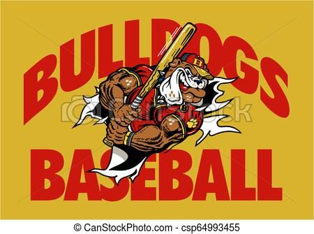 Bulldogs Baseball Vector Stock Illustration Royalty Free Illustrations Stock Clip Art Icon Stock Clipart Icons Logo Lin Baseball Vector Bulldog Art Icon