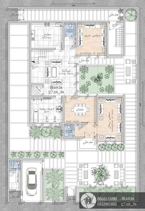 65 Layout Plan By Arab Designers Ideas In 2021 House Design Villa Plan Architecture