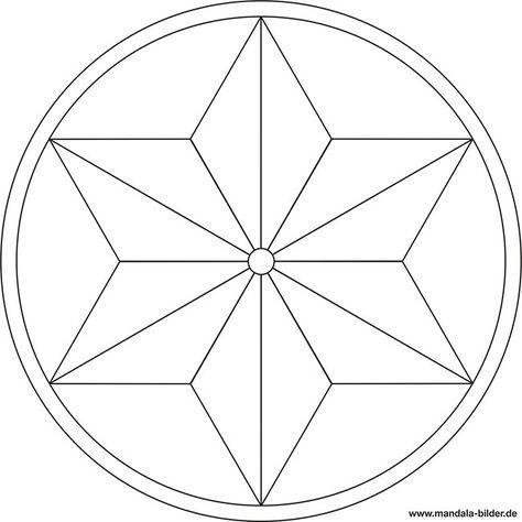 Mandala Vorlage In Sternform Mandala Vorlagen Einfaches Mandala Mandala Malvorlagen
