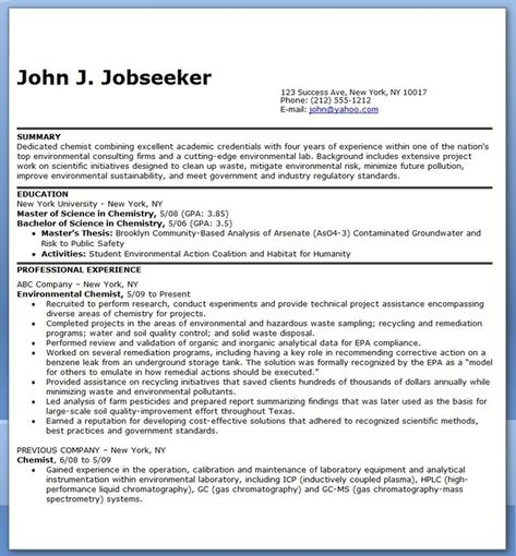 Resume Analysis Here Is Analytical Chemist Resume You Can Check The Preview Here Or