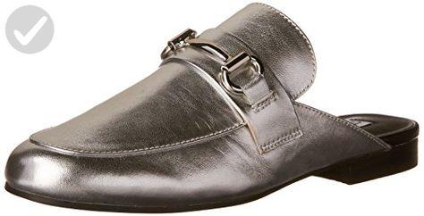2e40014b916ca Steve Madden Women's Kandi Slip-on Loafer, Silver Leather, 9.5 M US ...