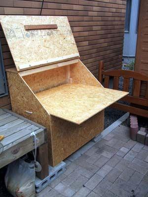 My Diy Life No 71 屋外収納box 生ゴミは極力コンポストを利用している