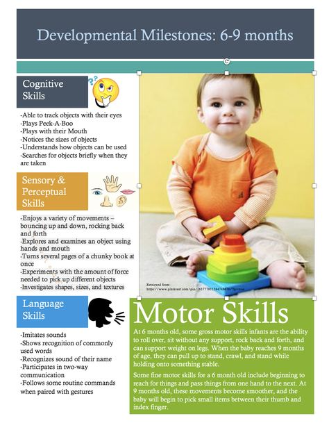 Your 6 To 9 Month Old Is Growing And Developing Skills Every Day She Knows Her Name I Developmental Milestones Chart Developmental Milestones Milestone Chart