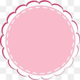 Cartoon Circular Lace Border Cartoon Lovely Round Png Transparent Clipart Image And Psd File For Free Download Frame Logo Love Png Bakery Logo Design