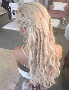 Want Khaleesi hair for Halloween? Learn to recreate Daenerys' braids (& othe… Want Khaleesi hair for Halloween? Learn to recreate Daenerys' braids (& other iconic Game of Thrones hairstyles) here & give yourself a Westeros makeover. Long Curly Hair, Curly Hair Styles, Natural Hair Styles, Natural Curls, Curly Hair Braids, Bun Hair, Curly Girl, Box Braids Hairstyles, Wedding Hairstyles