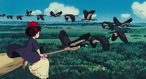 HD wallpaper: Kikis Delivery Service, Studio Ghibli