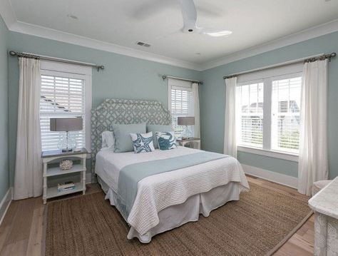 Paint color is Rainwashed by Sherwin Williams.