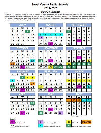 Duval County Public Schools Calendar ✅Duval County School Calendar   You Calendars https://