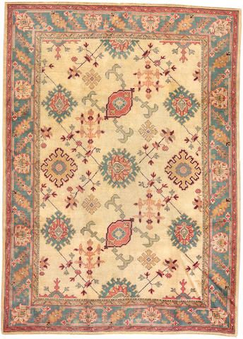 Turkishoushak Carpet West Anatolia Size Approximately 7ft 2in X 10ft