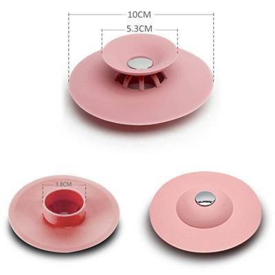 AICSRAD Bathroom Silicone Drain Plug Filter Pressing Bouncing Closed Drains