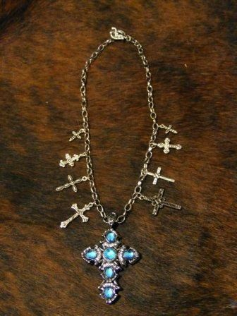 Western Cross Charm Necklace. $25.00, via Etsy.