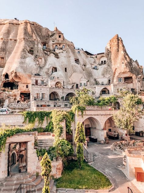 Looking out over Cappadocia Cave Suites and nearby cave hotels in Goreme, Turkey. Check out the ultimate guide to exploring the best Turkey travel destinations on an epic road trip adventure! Travel The Perfect Road Trip Through Turkey: A 6 Day Itinerary Beautiful Places To Travel, Cool Places To Visit, Places To Go, Romantic Travel, Romantic Vacations, Couple Travel, Capadocia, Voyage New York, Perfect Road Trip