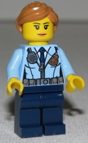 Lego New Police City Female Prison Island Police Minifigure from Set 60130