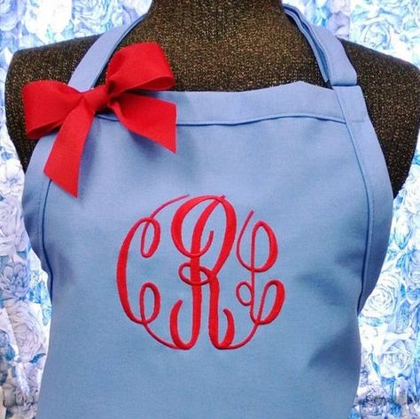 Monogram Apron Personalized Apron Kitchen Apron Birthday