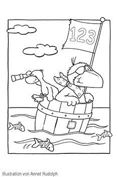 Der Kleine Rabesocke Auf Hoher See Rabe Socke Rabe Und