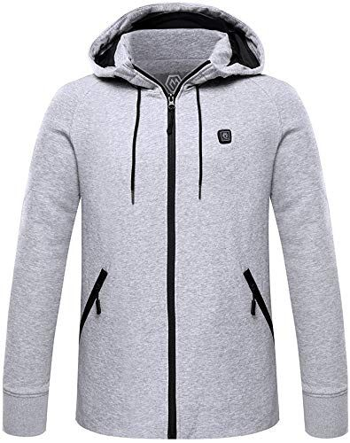 New Climix Mens Cordless Heated Hoodie Jacket Kit With Battery Pack L Mens Jackets Coats 119 From Top Store Hoodie Jacket Men S Coats And Jackets Jackets