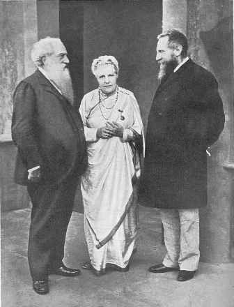 Annie Besant (née Wood, 1847-1933) - with Henry Steel Olcott (1832-1907) and Charles Webster Leadbeater (1847-1934) Read more here: http://earthpages.wordpress.com/2013/04/04/besant-annie/