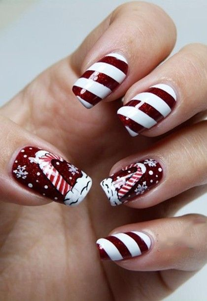 59 Christmas Nail Art Ideas For Early 2020 Nail Art Wedding Christmas Nails Christmas Nail Designs