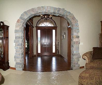 Archways In Homes | Hartwood Homes Inc. - Feature Home | Ideas For The  House | Pinterest | Stone Archway Front Entry And House