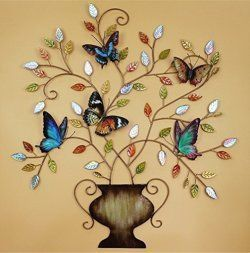 Vibrant Unique And Trendy Metal Butterfly Wall Art With Images